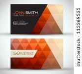orange modern abstract business ... | Shutterstock .eps vector #112369535