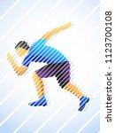 stylized. runner  jogging ... | Shutterstock .eps vector #1123700108