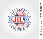 fourth of july independence day ... | Shutterstock .eps vector #1123704002
