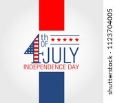 fourth of july independence day ... | Shutterstock .eps vector #1123704005