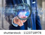 view of a hologram made of... | Shutterstock . vector #1123718978