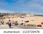 st ives  england   june 18 ...   Shutterstock . vector #1123720478