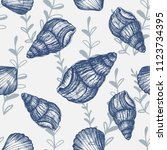 Seashells And Oysters  Marine...