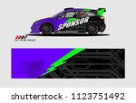 rally car livery graphic vector.... | Shutterstock .eps vector #1123751492