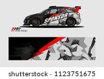 rally car livery graphic vector....   Shutterstock .eps vector #1123751675