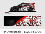 rally car livery graphic vector....   Shutterstock .eps vector #1123751708
