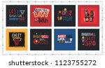 a collection of vector...   Shutterstock .eps vector #1123755272
