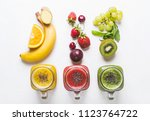 selection of multicolored... | Shutterstock . vector #1123764722