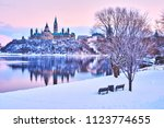 views of ottawa  canada during... | Shutterstock . vector #1123774655
