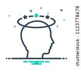 colorful icon for headache  | Shutterstock .eps vector #1123778678
