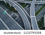 aerial view of highway and...   Shutterstock . vector #1123795358