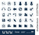 web and finance icons set. hand ...