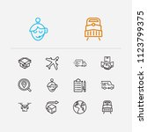 carrying icons set.... | Shutterstock .eps vector #1123799375