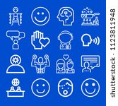 people related set of 16 icons... | Shutterstock .eps vector #1123811948