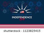 happy independence day usa blue ... | Shutterstock .eps vector #1123825415