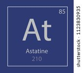 astatine at chemical element... | Shutterstock .eps vector #1123830935