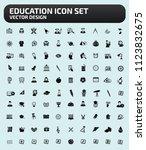 education vector icon set | Shutterstock .eps vector #1123832675