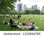new york  usa   may 26  2018 ...   Shutterstock . vector #1123836785
