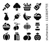 food related set of 16 icons... | Shutterstock .eps vector #1123839755