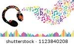 vector illustration for music... | Shutterstock .eps vector #1123840208