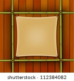 bamboo frame with parchment... | Shutterstock .eps vector #112384082