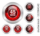 timer vector icons set  eps10... | Shutterstock .eps vector #112384142