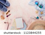 outfit and accessories of... | Shutterstock . vector #1123844255