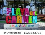 playacar  united mexican states ... | Shutterstock . vector #1123853738