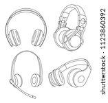 headphones vector illustration  ... | Shutterstock .eps vector #1123860392