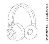headphones vector illustration  ... | Shutterstock .eps vector #1123860416