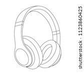 headphones vector illustration  ... | Shutterstock .eps vector #1123860425