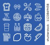 food related set of 16 icons... | Shutterstock .eps vector #1123869458