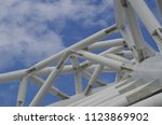 steel structure of a viaduct | Shutterstock . vector #1123869902