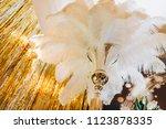 wedding feather decor | Shutterstock . vector #1123878335