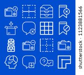 interface related set of 16... | Shutterstock .eps vector #1123881566
