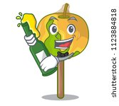 with beer candy apple mascot... | Shutterstock .eps vector #1123884818