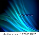neon glowing wave  magic energy ...   Shutterstock .eps vector #1123894352