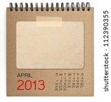 2013 Calendar Brown Notebook...
