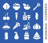 food related set of 16 icons... | Shutterstock .eps vector #1123906325