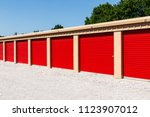 numbered self storage and mini... | Shutterstock . vector #1123907012