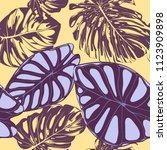 seamless vector tropical...   Shutterstock .eps vector #1123909898
