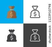 money bag icons | Shutterstock .eps vector #1123910798