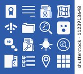 interface related set of 16... | Shutterstock .eps vector #1123913648