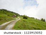 lush green high altitude summer ... | Shutterstock . vector #1123915052
