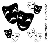 collection of theater masks on... | Shutterstock .eps vector #1123926365