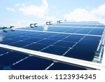 solar cell generated electrical ... | Shutterstock . vector #1123934345