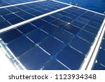 solar cell generated electrical ... | Shutterstock . vector #1123934348