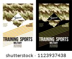 sports training typography and... | Shutterstock .eps vector #1123937438