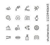 medical laboratory icons. set... | Shutterstock .eps vector #1123940645
