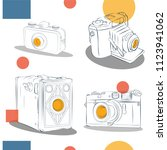 old photographic machines....   Shutterstock .eps vector #1123941062